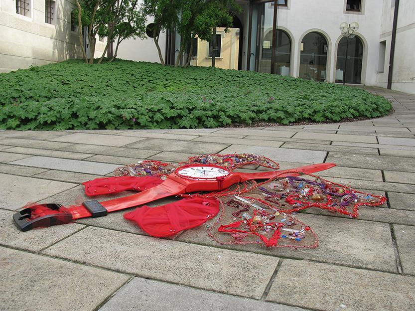 """Installazione """"i dolci battiti"""" Giardini di Palazzo Bomben - Fondazione Benetton (gentile concessione)"""